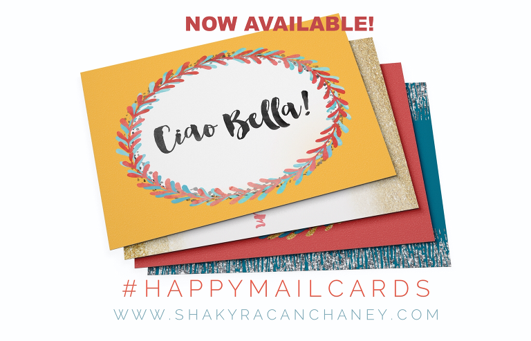 #HappyMailCards postcards inspiring and encouraging available available www.shakyracanchaney.com